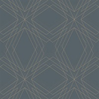 Relativity Charcoal Geometric Wallpaper