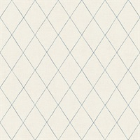 Rhombus Blue Geometric Wallpaper