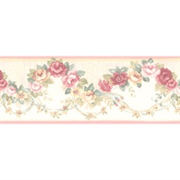 Rose Scallop Wallpaper Border