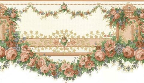 rose wallpaper border 979b12101 cameo rose iv wall border