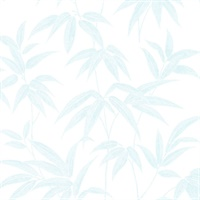 Sasa Blue Bamboo Leaf Wallpaper