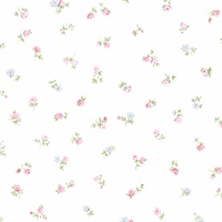 Shabby Rose Buds Wallpaper