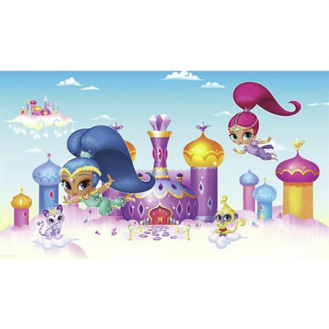 Shimmer and Shine Pre-Pasted Mural
