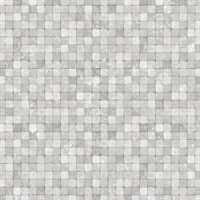 Silver Textured Tiles Wallpaper