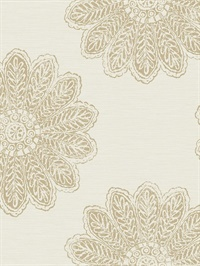 Sol Light Brown Medallion Wallpaper
