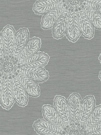 Sol Slate Medallion Wallpaper