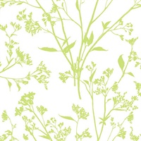 Southport Chartreuse Delicate Branches Wallpaper