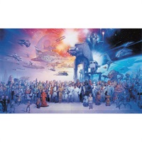 Star Wars TM Saga Pre-Pasted Mural