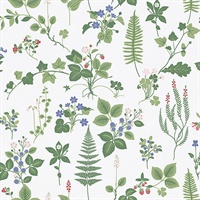 Stormare Green Botanical Wallpaper