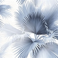 Summer Palm Blue Tropical Wallpaper