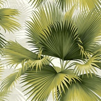 Summer Palm Green Tropical Wallpaper