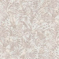 Susila Beige Tropical Wallpaper