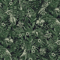 Susila Green Tropical Wallpaper