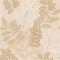 Tahiti Beige Tropical Wallpaper