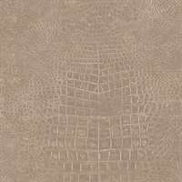Taupe Crocodile Skin Wallpaper