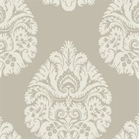 Teardrop Damask Wallpaper