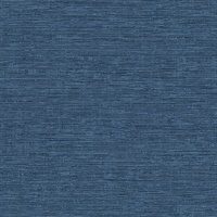 Tiverton Indigo Faux Grasscloth Wallpaper