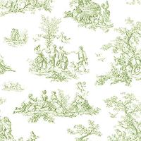 Small Toile Wallpaper