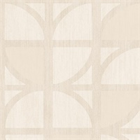 Tulip Cream Geometric Trellis Wallpaper