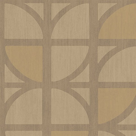 Tulip Gold Geometric Trellis Wallpaper