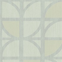 Tulip Mint Geometric Trellis Wallpaper