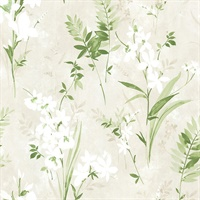 Turner Cream Watercolor Floral Wallpaper