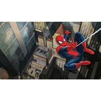 Ultimate Spider-Man City Scape Pre-Pasted Mural
