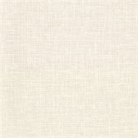 Upton Cream Faux Linen Wallpaper