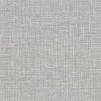 Upton Grey Faux Linen Wallpaper