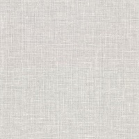 Upton Light Grey Faux Linen Wallpaper