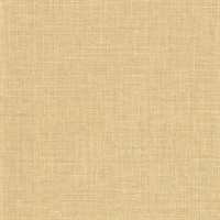 Upton Wheat Faux Linen Wallpaper