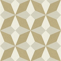 Valiant Beige Faux Grasscloth Geometric Wallpaper