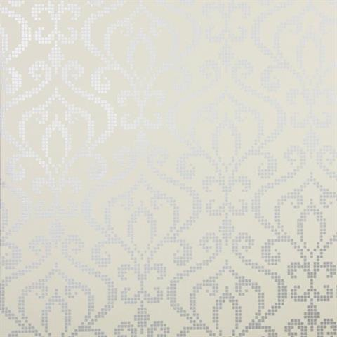 Venus Pewter Metallic Mini Damask