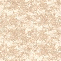 Vernon Beige Tree Wallpaper