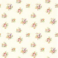 Vicky Pearl Floral Bouquet Wallpaper