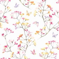 Watercolor Branch Wallpaper