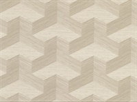 Y Knot Neutral Geometric Texture Wallpaper