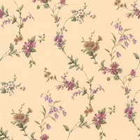 Yelena Beige Midscale Floral Wallpaper