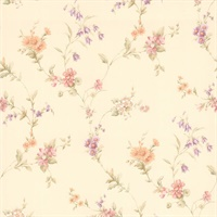 Yelena Pastel Midscale Floral Wallpaper