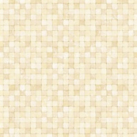 Yellow Textured Tiles Wallpaper